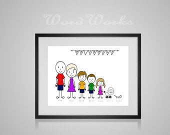 Personalised Stick Family Design