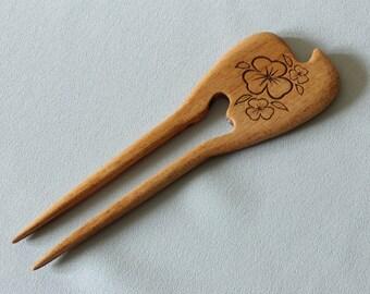 Wooden HairPin - Wooden Hair Stick - Wooden Hair Fork - Hair accessories - Head accessories