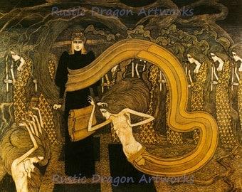 """Jan Toorop """"Fatality"""" 1893 Reproduction Digital Print Vintage  Art Nouveau"""