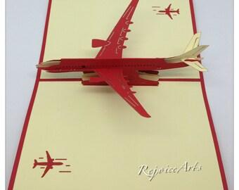 3D Pop Up Airplane Card