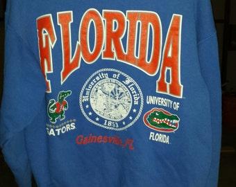 University of Florida Gators Gainesville Sweatshirt Size Large