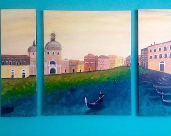 Venice Original Acrylic Painting- Wall decor- Home Decoration