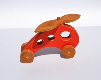 Personalized Kids Toys - Airplane - Helicopter - Push Toy - Toddler Toy - Baby Toy - Toddler - Waldorf - Shower Gift
