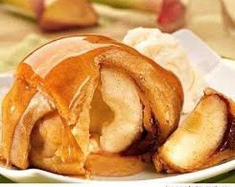 apple dumpling with caramel sauce, old fashioned apple dumplings, dutch apples apple dumplings, Thanksgiving desserts
