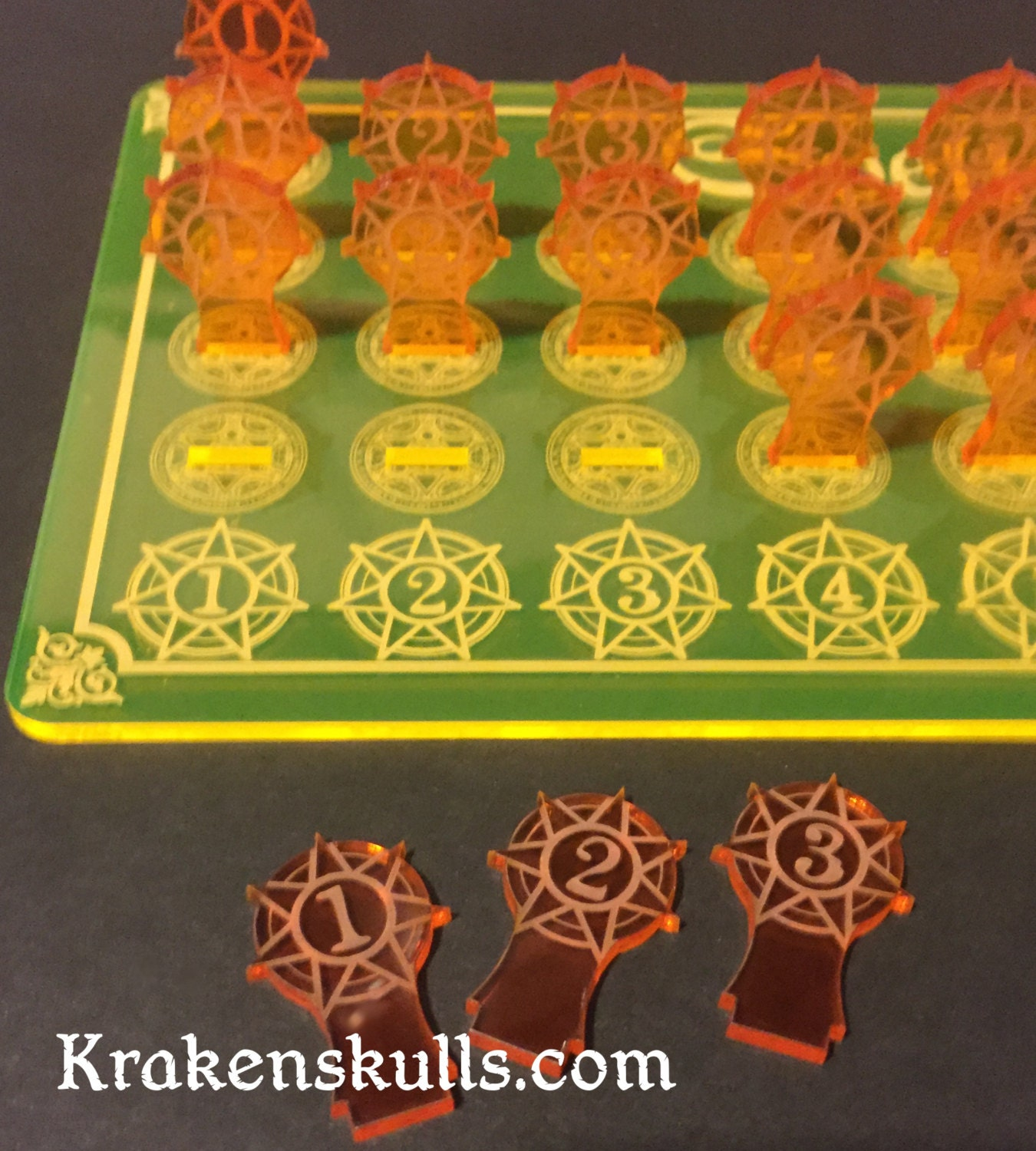 Acrylic Plastic Spell Tracker For 5th Edition By Kscengraving