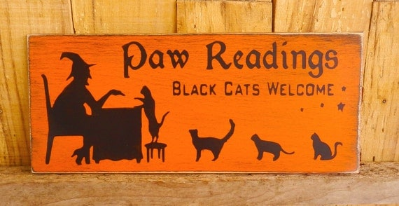 Paw Reading Sign