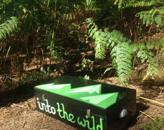 Hand Painted Storage Box - Into The Wild - Hills & Mountains