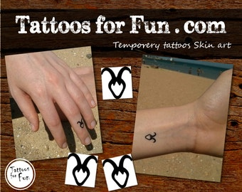 Zodiac Sign Temporary Tattoo- Choose Your Pack- Capricorn Fake tattoo- Astrology Water Tattoo- Stick On Horoscope Tattoos- Astrological Sign