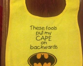 Batman cape bib