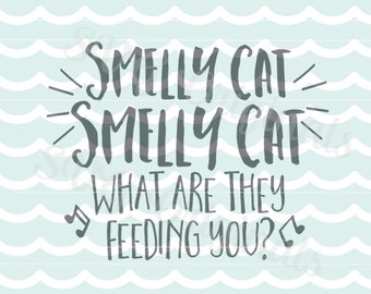 Friends Smelly Cat Smelly Cat song SVG Vector file. Phoebe Buffay song Friends cat song. Cricut Explore and more!