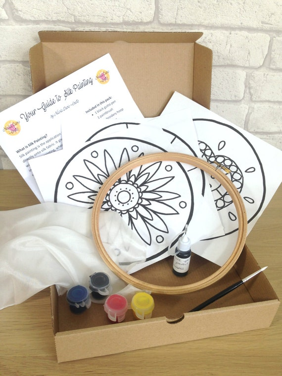 Silk painting kit adults craft kits childrens craft kit for Craft kits for adults to make