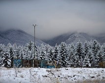 Landscape Photography, Fine Winter Nature Art Print, Color Wall Decor