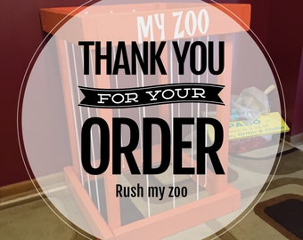 Rush my zoo option - please add to have your zoo on a rush