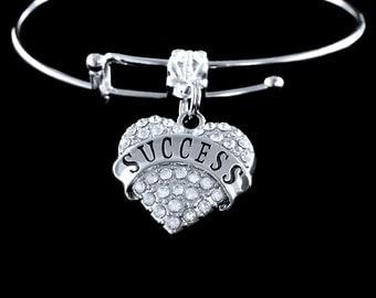 Success bracelet success jewelry Crystal heart success bracelet successful bracelet