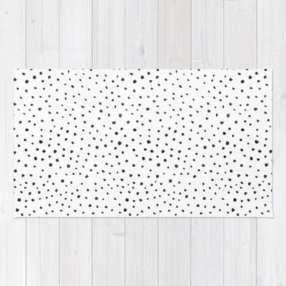 Black And White Polka Dot Rug Home Decor