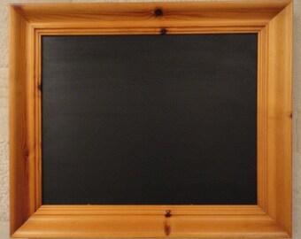 Chunky Pine Framed Chalkboard / Blackboard / Notice Board / Message Board