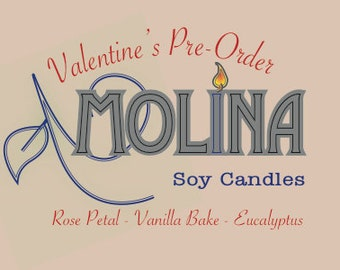 Valentine's Soy Candles