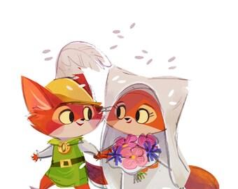 Robin Hood & Maid Marian - Art Print