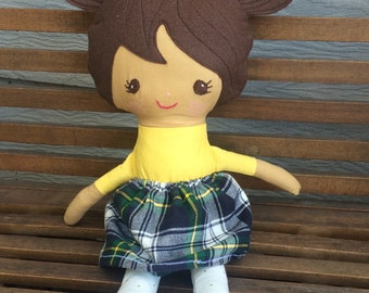 Soft doll, fabric doll, one of a kind