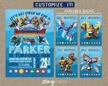 Skylanders Birthday Invitation / NEW Skylanders Superchargers Invitation / Skylanders Party /Skylanders Printable Invite