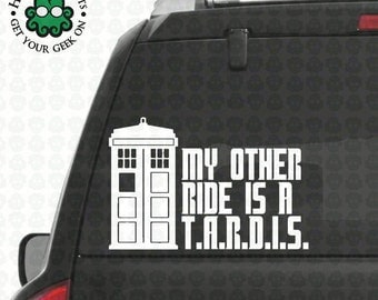 My Other Ride is a T.A.R.D.I.S. Decal
