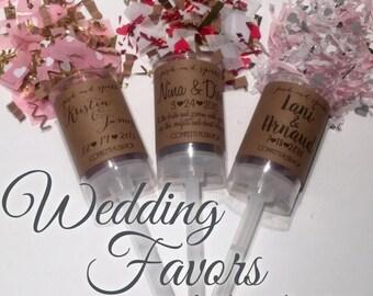 Wedding Favor Confetti Push-Pops