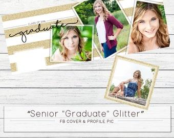 Glitter Graduate Senior FB Cover & Profile Pic