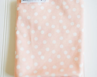 Pink Polka Dot Baby Blanket. Organic Swaddle Blanket. Cotton Swaddling Blanket for Baby Girl. Soft Organic Cotton Newborn Basics.