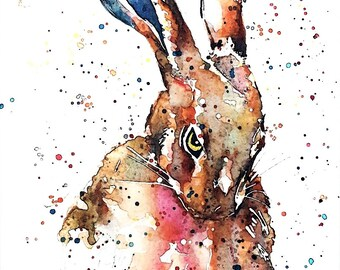 "I Dare You "" Print Watercolour A3 (30*40cm/16*12 Inches)"