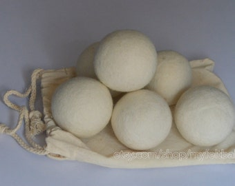 Dryer Felt Ball 6 cm, Wool Felt Dryer Ball, Eco friendly Dryer Ball, Organic Pure Wool Laundry ball