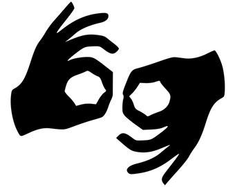 Sign Language Decal Etsy - Car sign language