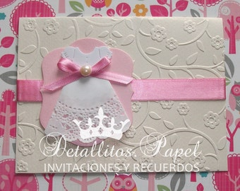 Baptism Invitation Girl, 50 baptism invitations girl