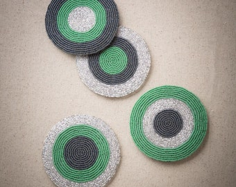 Coasters Beverage Circle Beaded (Set of 4)