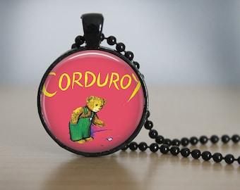 Corduroy Pendant Necklace or Keychain