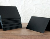 """Place cards, Handmade place cards for any occasion, 3.5"""" wide with 2.25"""" face and 1.75"""" back, Flat black powder coat, American made"""