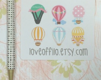 Hot Air Balloon | Life Planner Stickers