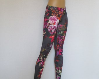 extra long yoga pants floral printed capri gym pants leggings footless tights stamped bamboo viscose workout training pants plus size
