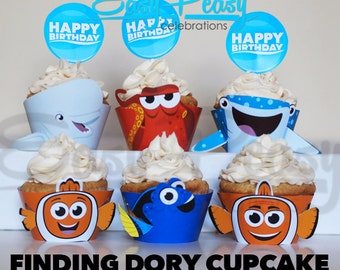 Finding dory cupcake toppers   Etsy NZ