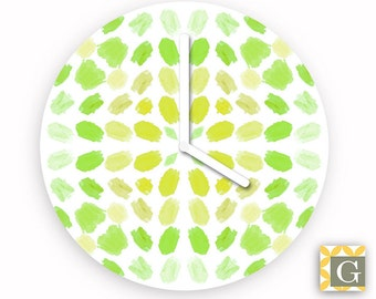 Wall Clock by GABBYClocks - Lemon Lime Brushes