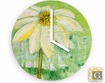 Wall Clock by GABBYClocks - Sunlit Daisy No. 1