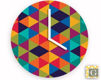Wall Clock by GABBYClocks - Geometric Multi No. 2