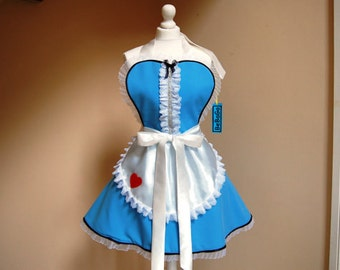 Alice in Wonderland apron,cosplay Alice apron