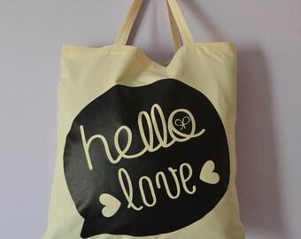 Hello Love cloth bag