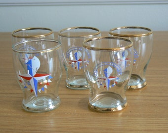 Selection of Festival of Britain Shot  Glasses from 1951.
