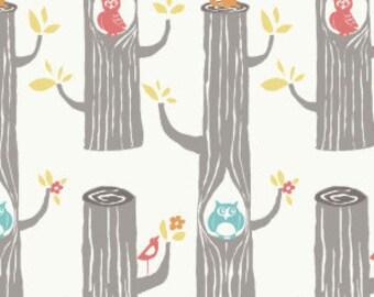 Tree stripes in cream by Birch fabrics, ONE Yard