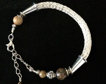 Silver Viking Knit with Jasper