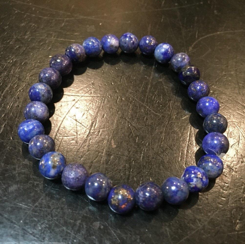 lapis lazuli bracelet healing crystal bracelet lapis. Black Bedroom Furniture Sets. Home Design Ideas
