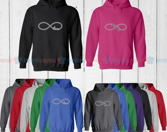 Infinite Love - Matching Couple Hoodie - His and Her Hoodies - Love Sweaters
