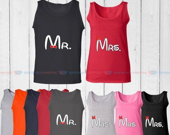 Mr. & Mrs. - Matching Couple Tank Top - His and Her Tank Tops - Love Tank Tops