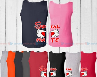 Soul Mate - Matching Couple Tank Top - His and Her Tank Tops - Love Tank Tops